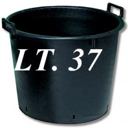 TUB BLACK FOR PLANTS WITH HOLES 45X37 LT. 37