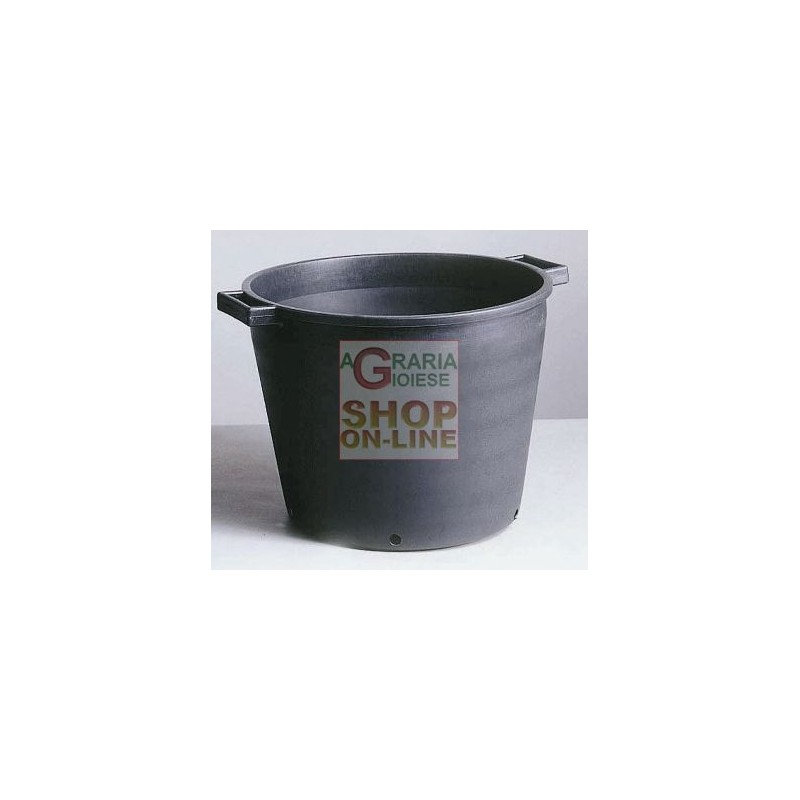 TUB BLACK FOR PLANTS WITH HOLES 55X41 LT. 65 LOW