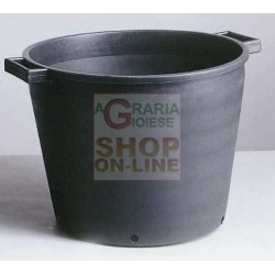 TUB BLACK FOR PLANTS WITH HOLES 60X48 LT. 90 LOW